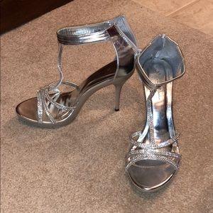 Jewel studded heels
